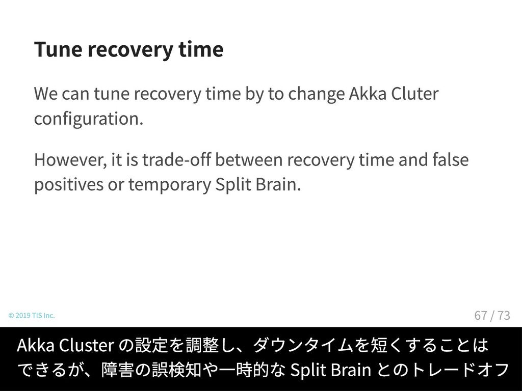 Tune recovery time We can tune recovery time by...