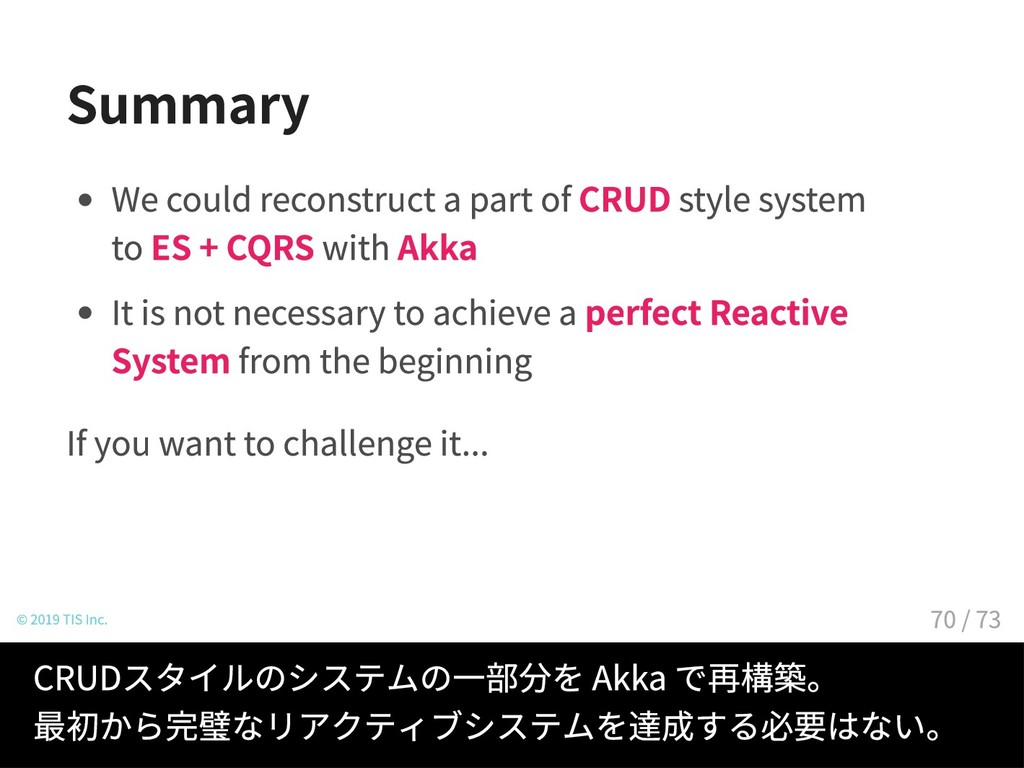 Summary We could reconstruct a part of CRUD sty...