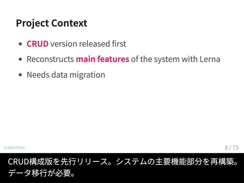Project Context CRUD version released first Rec...