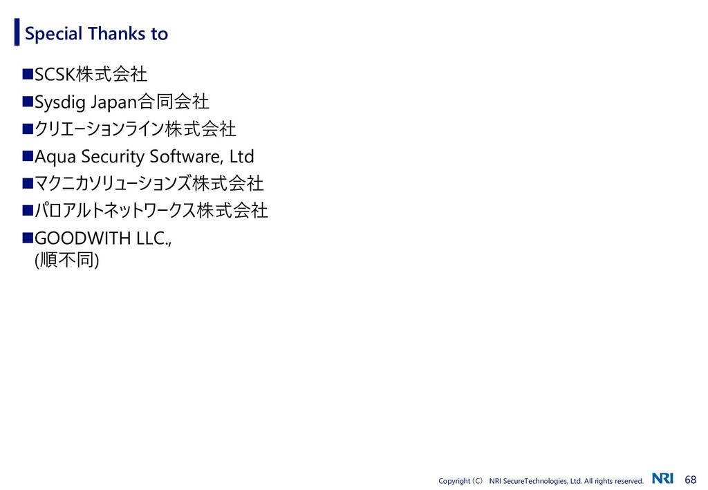 68 Copyright (C) NRI SecureTechnologies, Ltd. A...