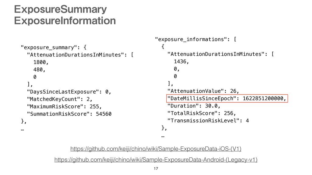 """exposure_summary"": {   ""AttenuationDurationsIn..."