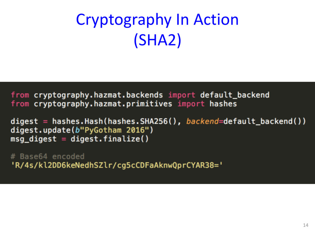 Cryptography In Action (SHA2) 14