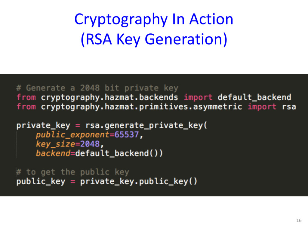 Cryptography In Action (RSA Key Generation) 16