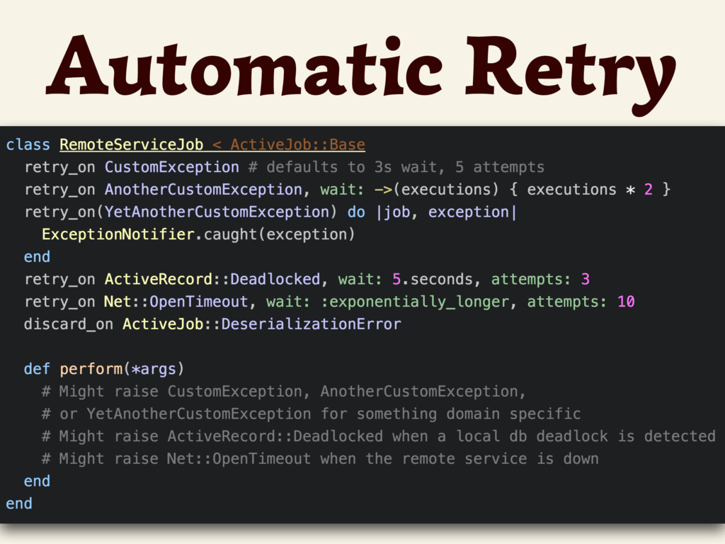 Automatic Retry