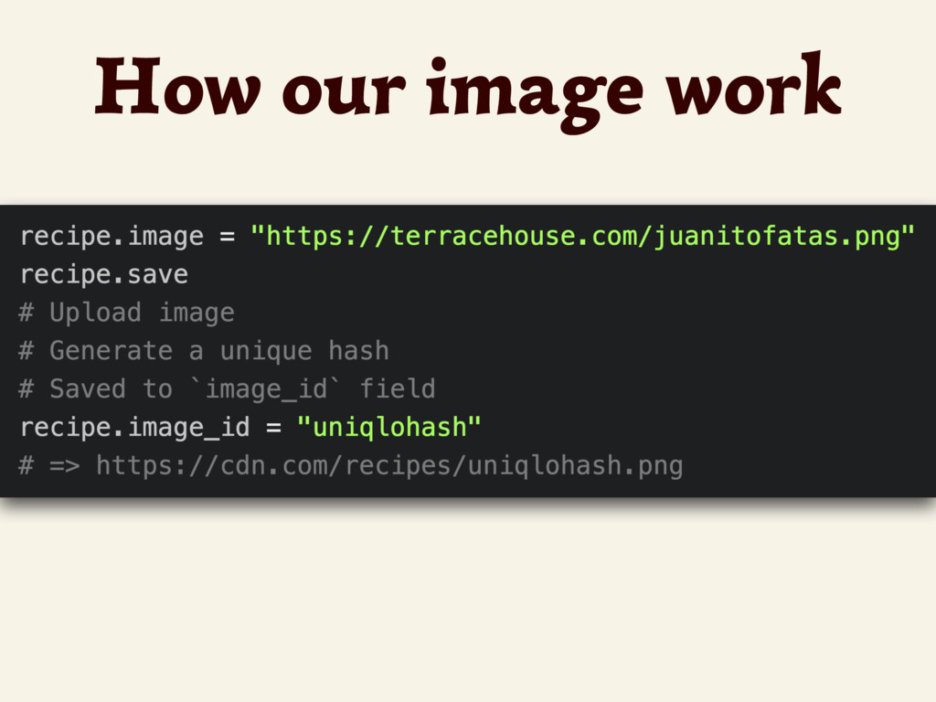 How our image work