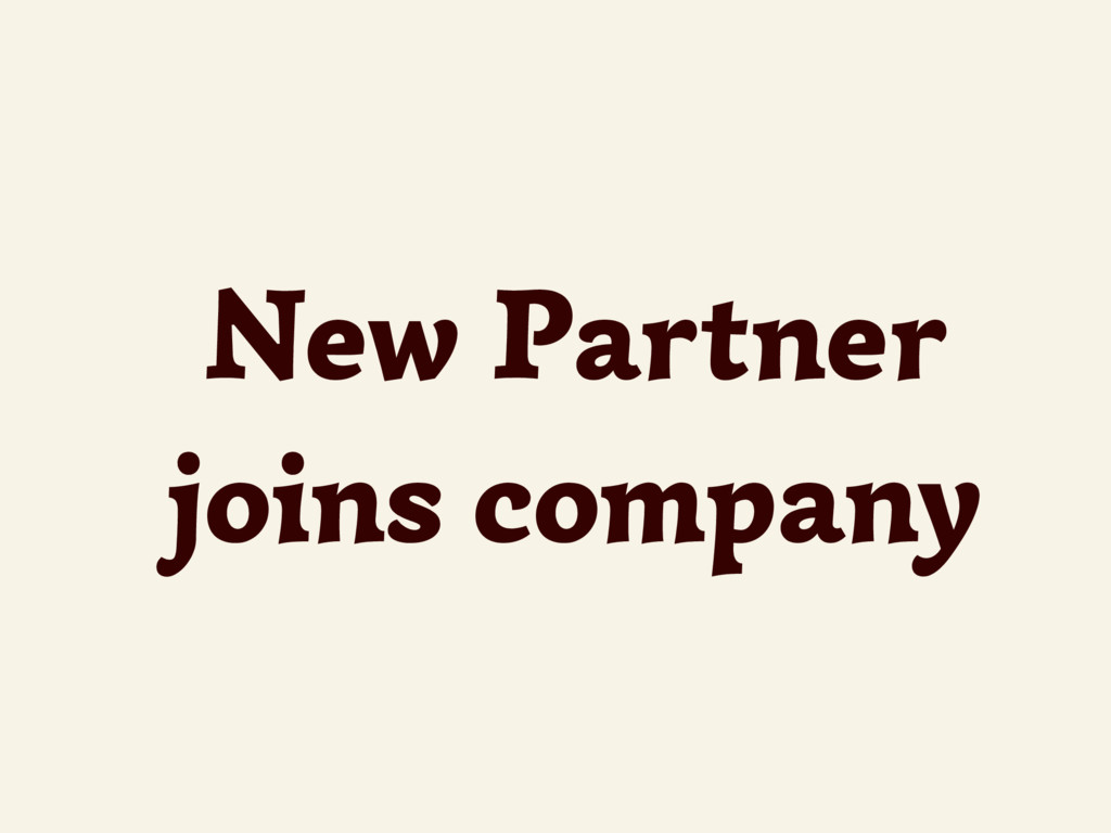 New Partner joins company