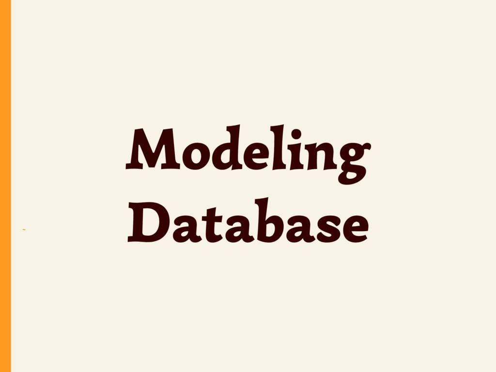 ~ Modeling Database
