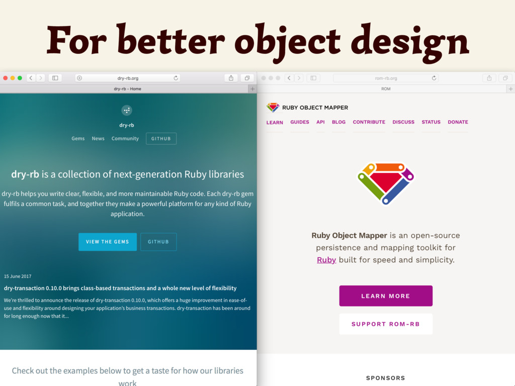 For better object design