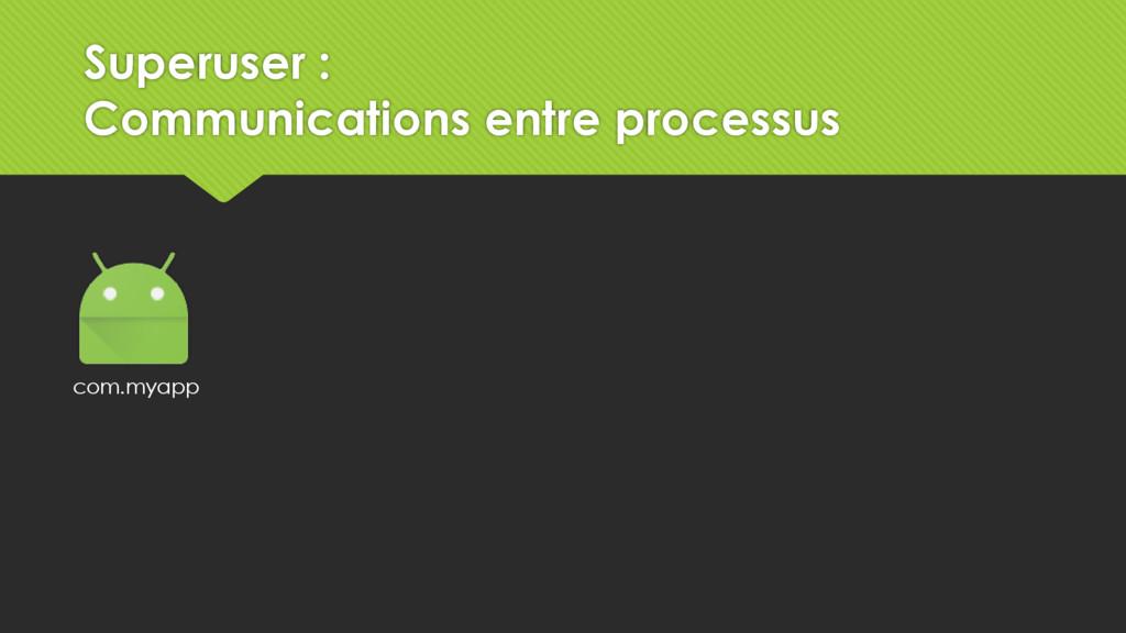 com.myapp Superuser : Communications entre proc...