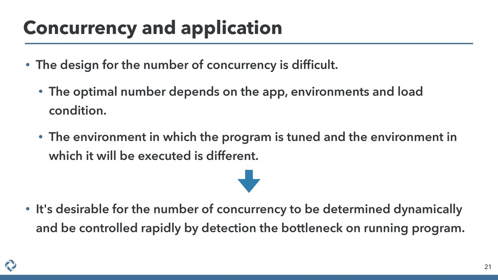 Concurrency and application 21 • The design for...
