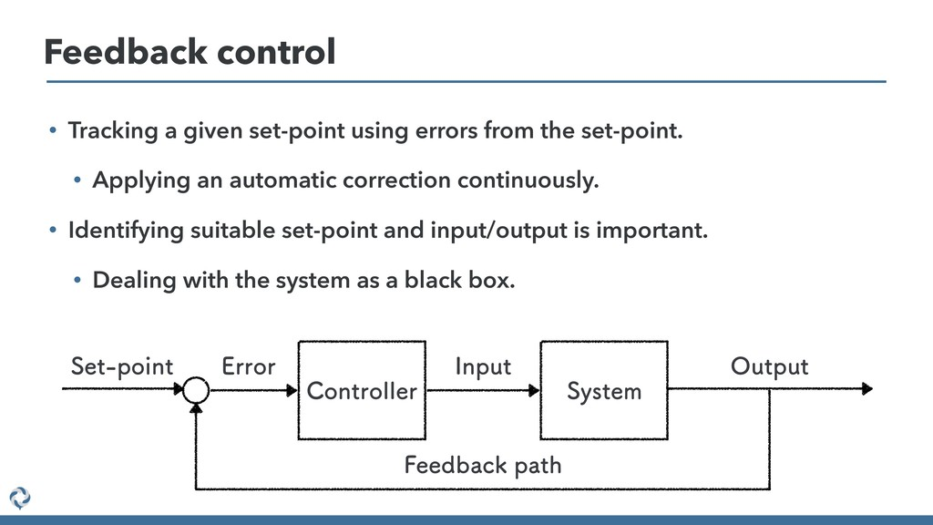 • Tracking a given set-point using errors from ...