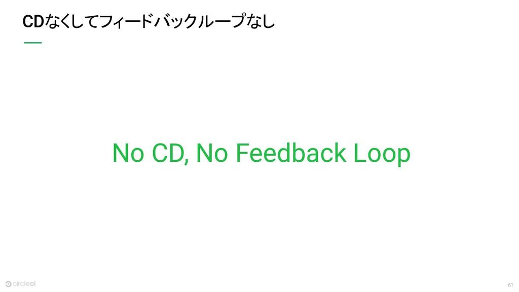 61 CDなくしてフィードバックループなし No CD, No Feedback Loop