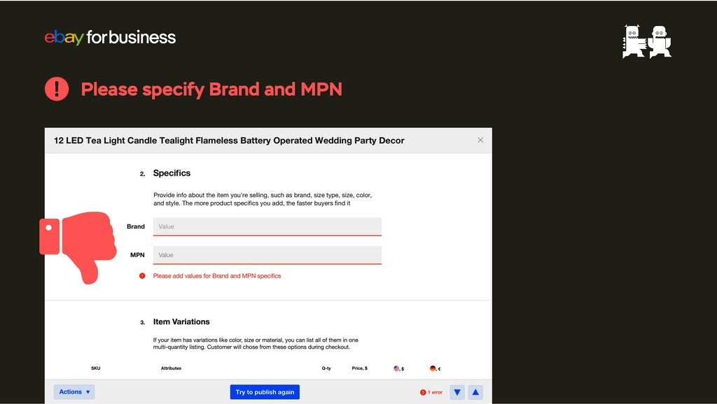 Please specify Brand and MPN