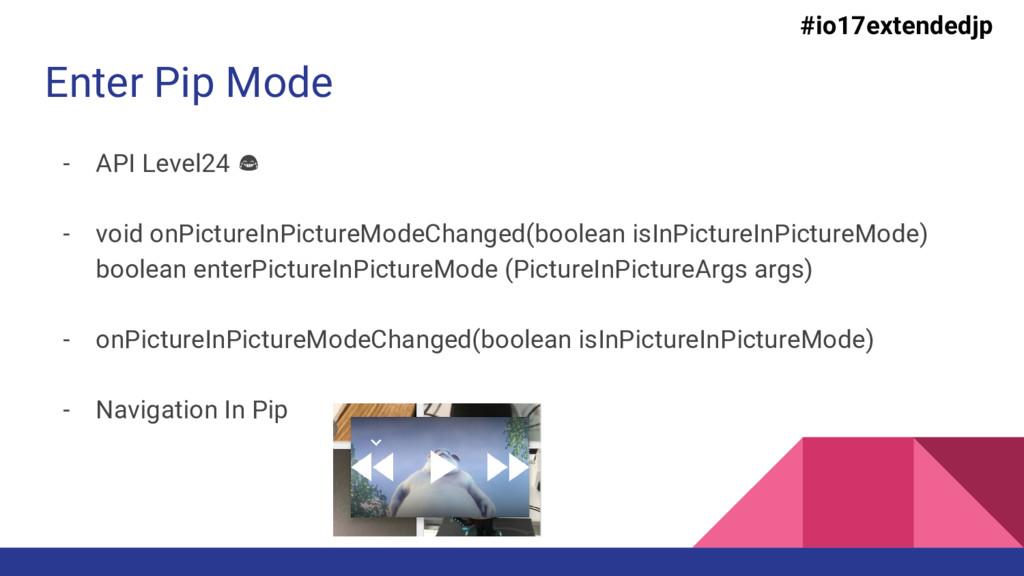 Enter Pip Mode - API Level24 - void onPictureIn...