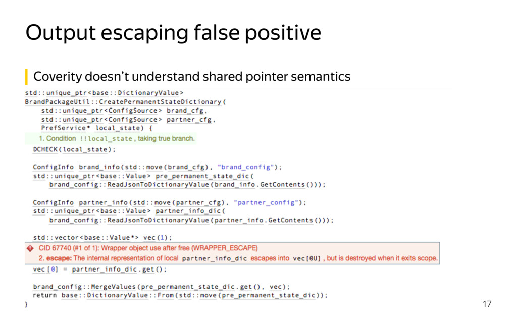Output escaping false positive 17 Coverity does...
