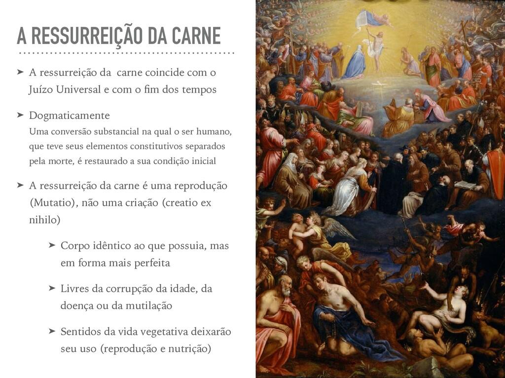 A RESSURREIÇÃO DA CARNE ➤ A ressurreição da car...