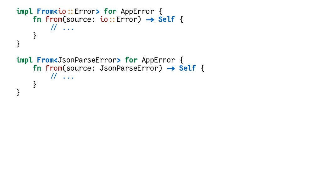 impl From<io::Error> for AppError { fn from(sou...