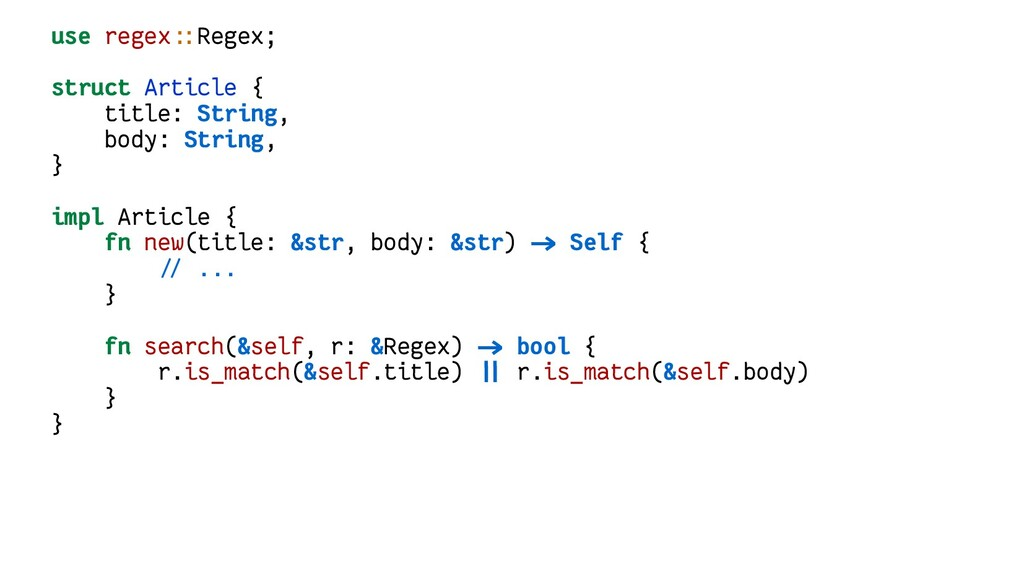 use regex::Regex; struct Article { title: Strin...