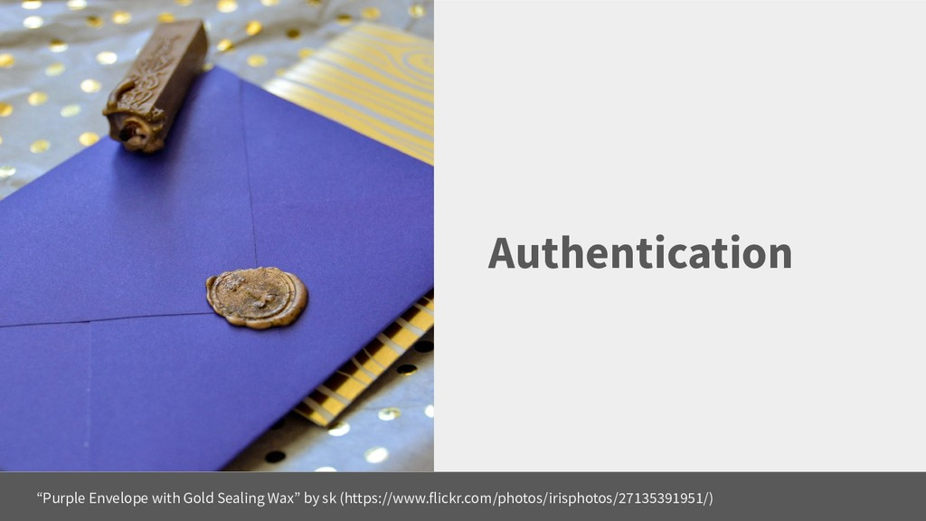 """Authentication """"Purple Envelope with Gold Seali..."""