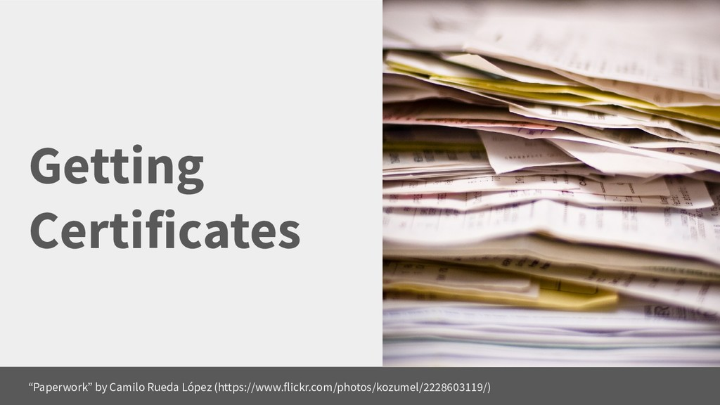 """Getting Certificates """"Paperwork"""" by Camilo Rued..."""