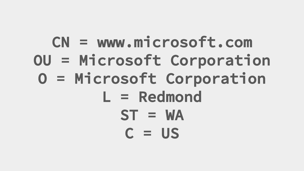 CN = www.microsoft.com OU = Microsoft Corporati...