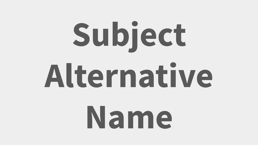 Subject Alternative Name Your Twitter Handle He...
