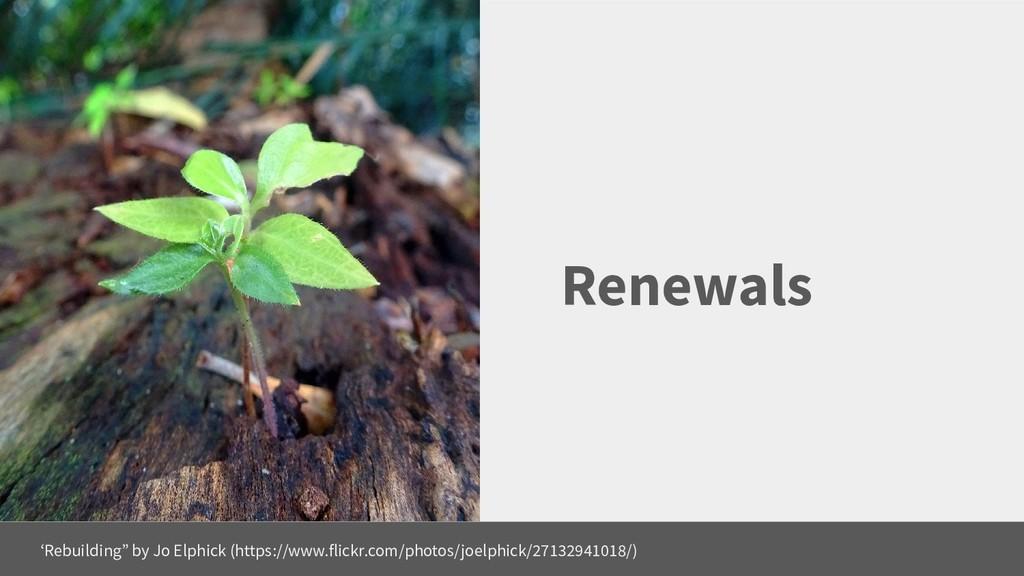"""Renewals 'Rebuilding"""" by Jo Elphick (https://ww..."""