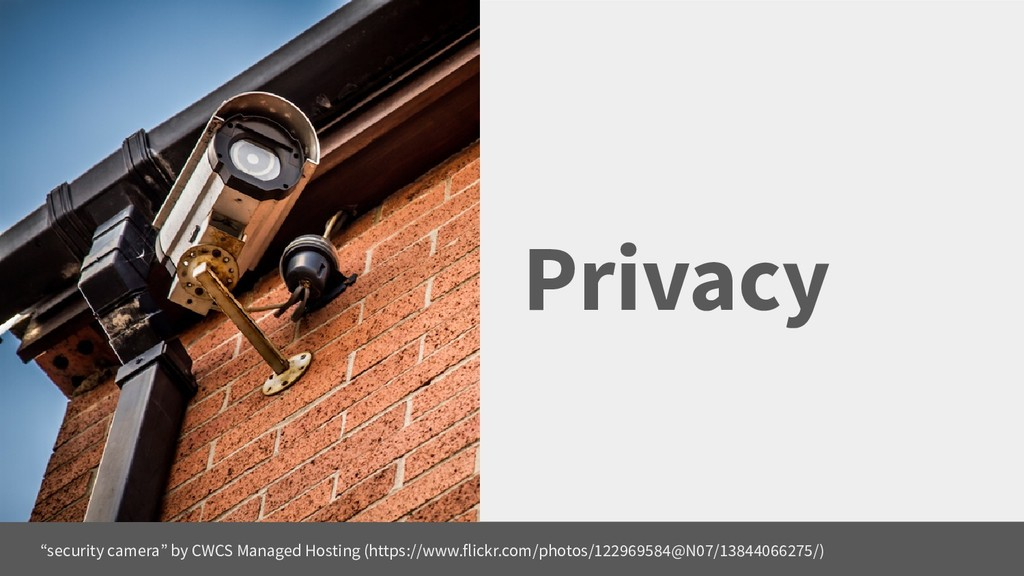 """Privacy """"security camera"""" by CWCS Managed Hosti..."""