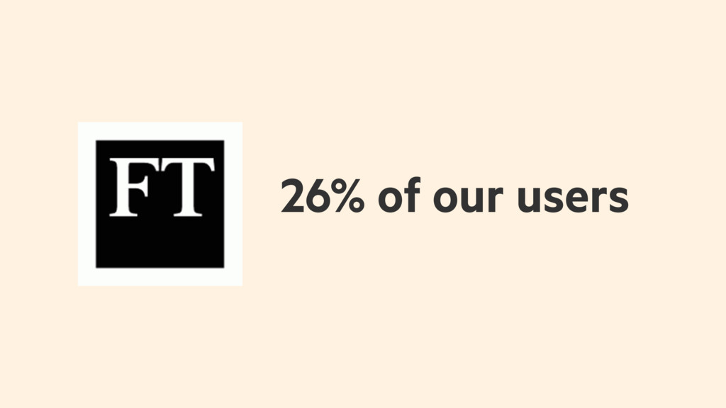 26% of our users