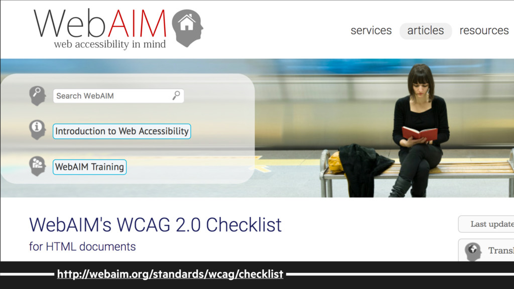 http://webaim.org/standards/wcag/checklist