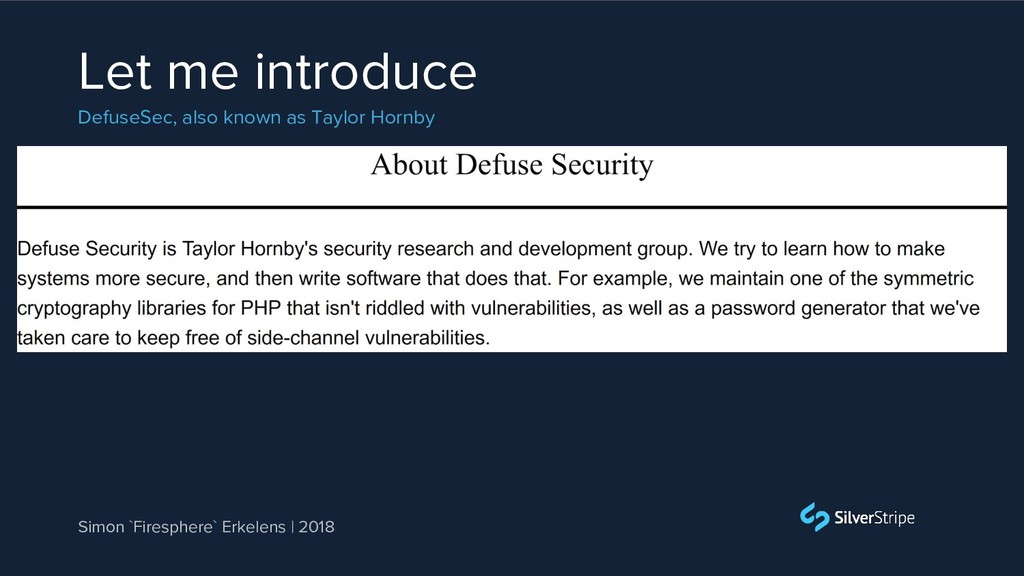 Let me introduce DefuseSec, also known as Taylo...