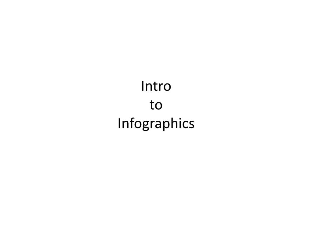 Intro   to   Infographics