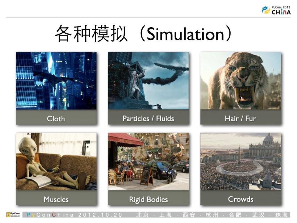 各种模拟(Simulation)
