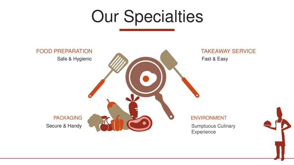 Our Specialties Safe & Hygienic FOOD PREPARATIO...