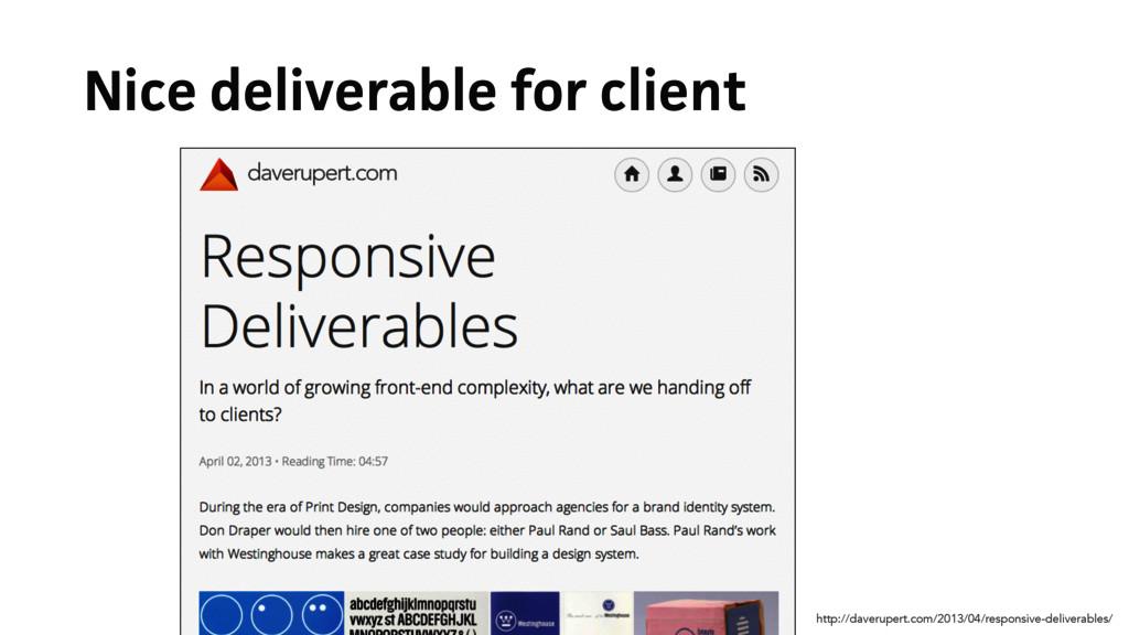 Nice deliverable for client http://daverupert.c...