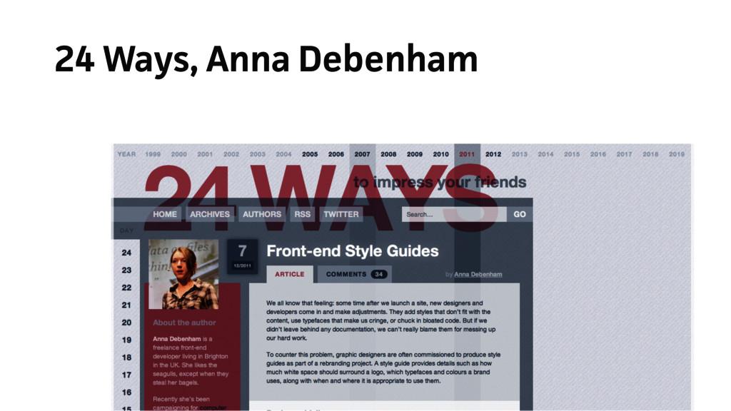 24 Ways, Anna Debenham