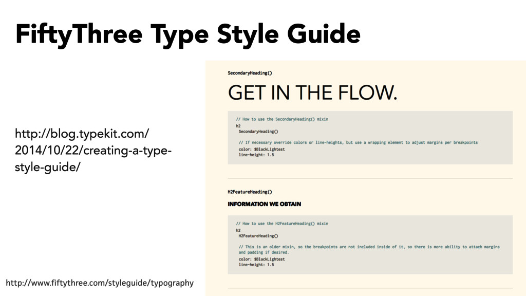 FiftyThree Type Style Guide http://www.fiftythr...