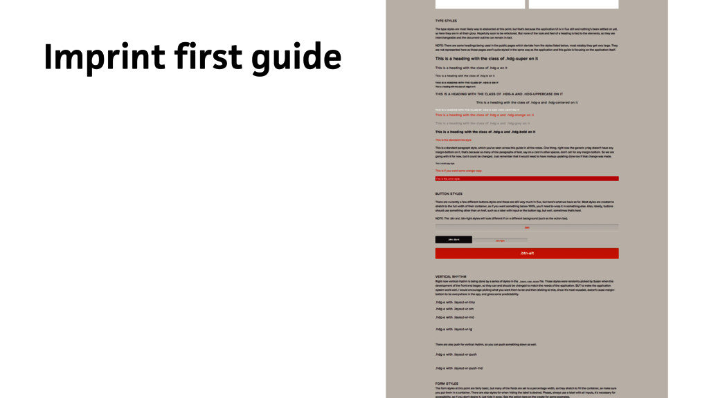 Imprint first guide