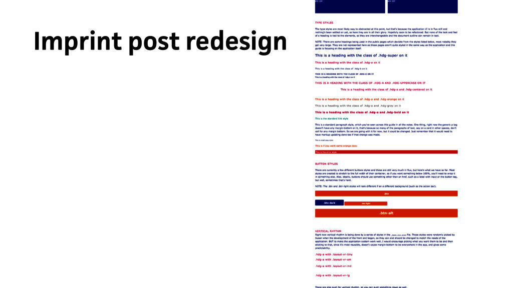 Imprint post redesign