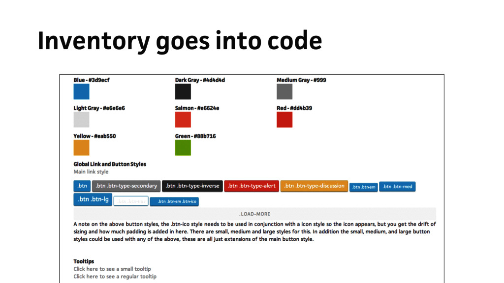 Inventory goes into code