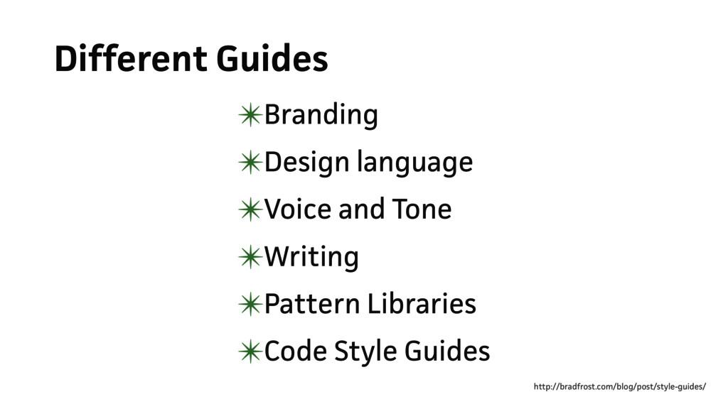 Different Guides ✴Branding ✴Design language ✴Vo...