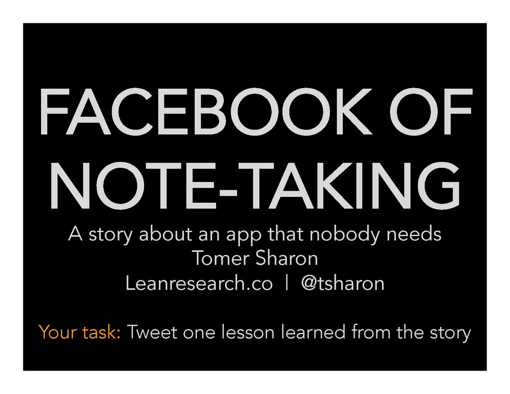 FACEBOOK OF NOTE-TAKING A story about an app th...