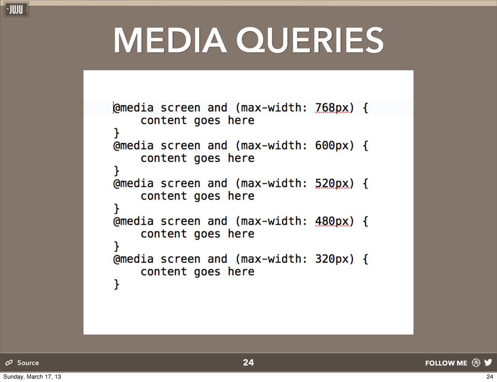 FOLLOW ME MEDIA QUERIES 24 Source 24 Sunday, Ma...
