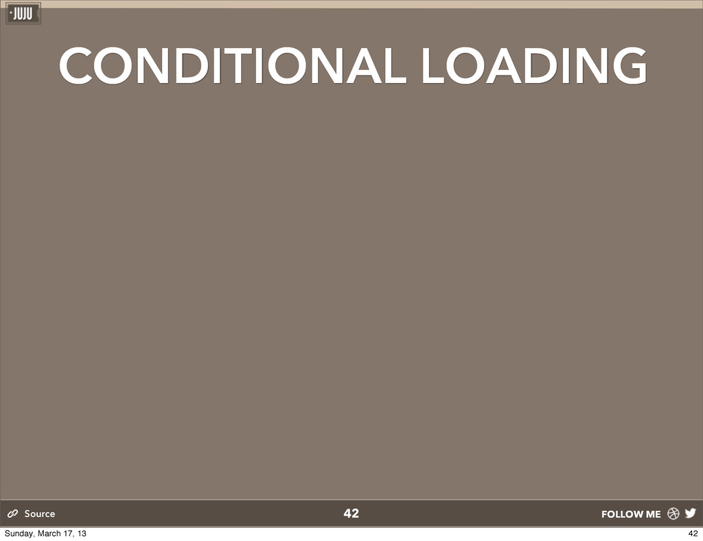 FOLLOW ME CONDITIONAL LOADING 42 Source 42 Sund...