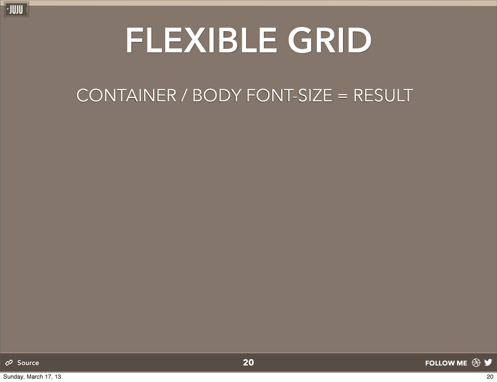 FOLLOW ME 20 Source FLEXIBLE GRID CONTAINER / B...