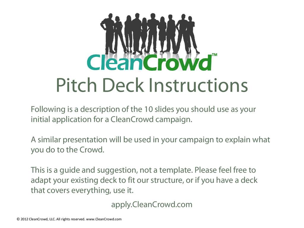Pitch Deck Instructions Following is a descript...