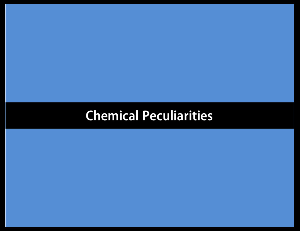 Chemical Peculiarities