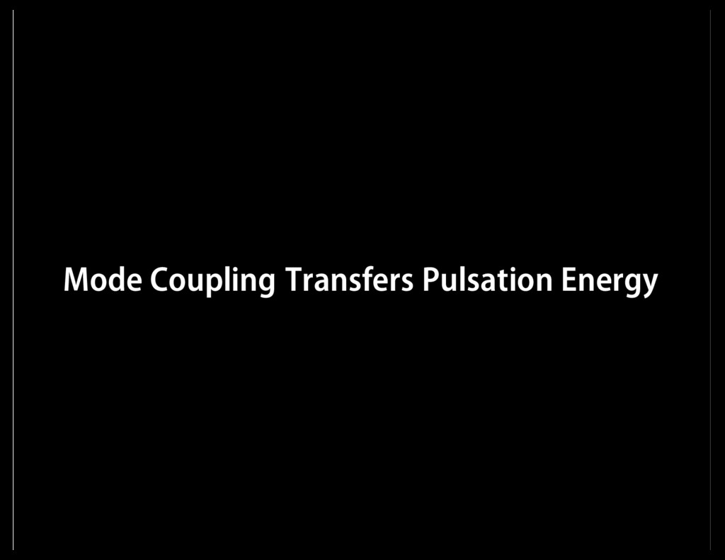 Mode Coupling Transfers Pulsation Energy