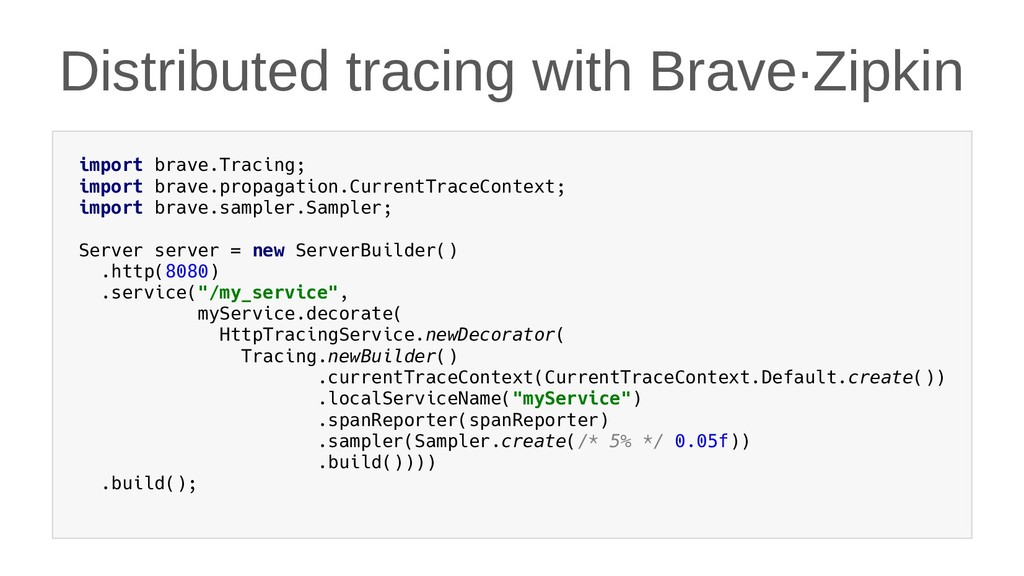 Distributed tracing with Brave·Zipkin import br...