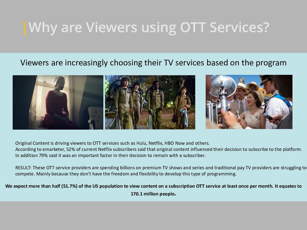 Viewers are increasingly choosing their TV serv...